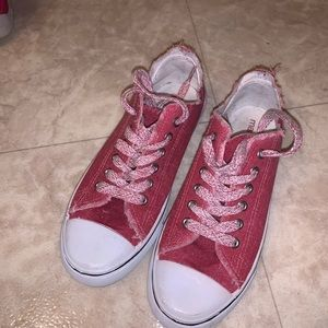 """Red """"converse"""" Shoes"""